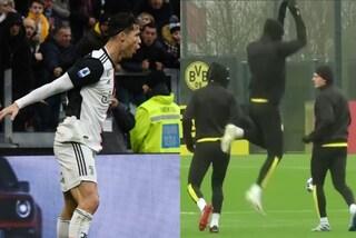 """Haaland come Cristiano Ronaldo? Intanto ne imita l'esultanza col """"siuuuu"""""""