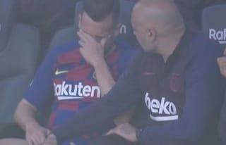 Barcellona, maledizione infortuni prima della Champions: Jordi Alba esce in lacrime