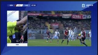 Moviola Genoa-Lazio, Var decisivo sui rigori (anche quello non dato al Grifone)