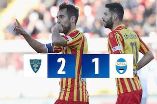 Mancosu e Majer scatenati, vince il Lecce (2-1). La Spal affonda verso la B
