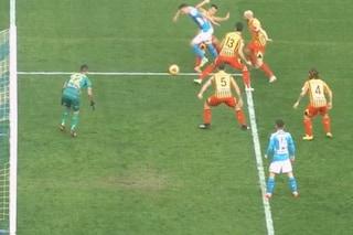 Moviola Napoli-Lecce, perché l'arbitro non dà rigore su Milik e non va al Var