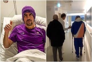 Fiorentina, Ribery: tolta la vite dalla caviglia: il francese sulla via del recupero