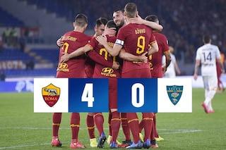 Roma-Lecce 4-0: i giallorossi travolgono Liverani ed escono dalla crisi