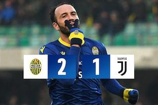 Verona-Juventus 2-1, Borini e Pazzini ribaltano il gol di Ronaldo e stendono la capolista