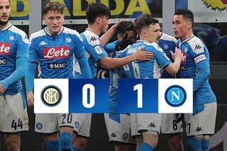Inter-Napoli 0-1, Fabian Ruiz decide il primo round della semifinale di Coppa Italia