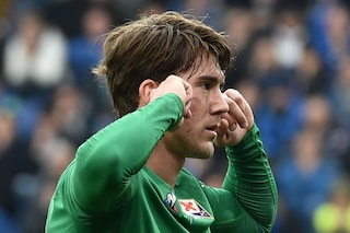 Anche Iachini bacchetta Dusan Vlahovic per l'esultanza in Sampdoria-Fiorentina