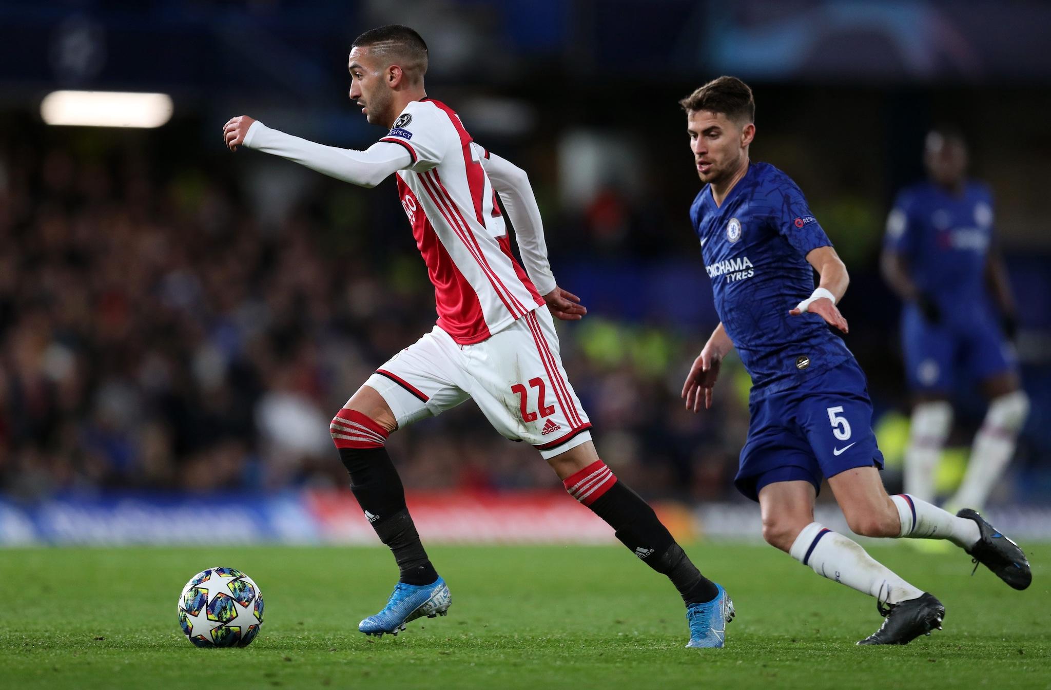Ziyech e Jorginho in Chelsea–Ajax 4–4.