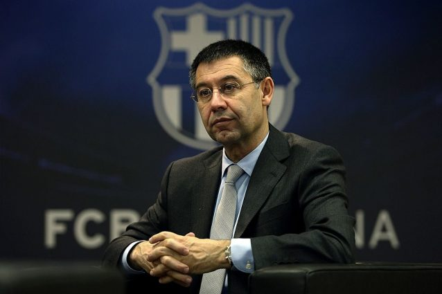 Il presidente del Barcellona, Josep María Bartomeu